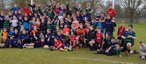 Oranje rugbyteam traint bij Goudse Rugbyclub